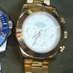 Men's Rolex Watch - 18k Yellow Gold White Face